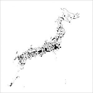NIPPON DATA80の調査地区(全国300地区)